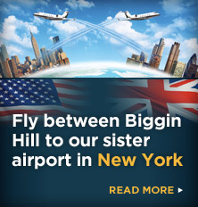 Fly from Biggin Hill to our new sister airport in New York