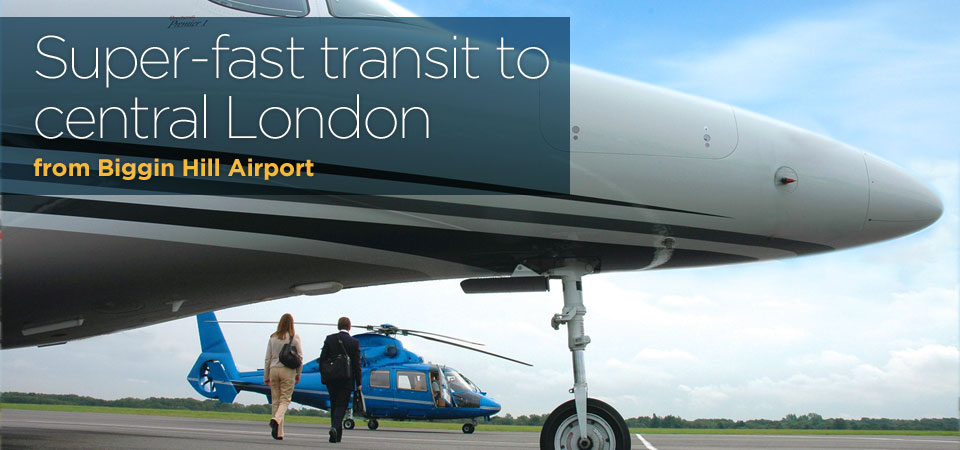 Super-fast transit to central London from Biggin Hill Airport