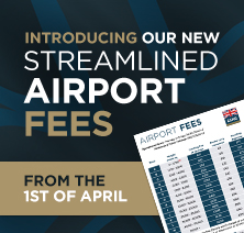 New Airport Fees – 1st April 2019