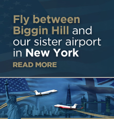 Fly from Biggin Hill and our new sister airport in New York