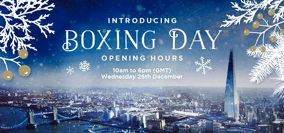 Introducing Boxing Day Open Hours 2018